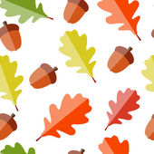 Shiny Autumn Natural Leaves Seamless Pattern Background. Vector — Stock Vector
