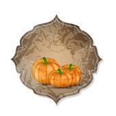 Orange Pumpkin  Background Vector Illustration — Stock Vector