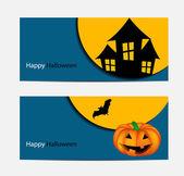 Fond illustration vectorielle citrouille halloween — Vecteur