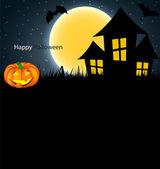Halloween Background with Pumpkin Vector Illustration — Stock Vector
