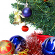 Decorated Christmas fir tree with gifts — Stock Photo #7403878