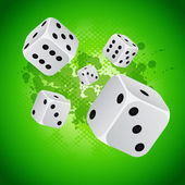 Casino background with dices — Stock Vector