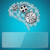 Gears mind — Stock Vector