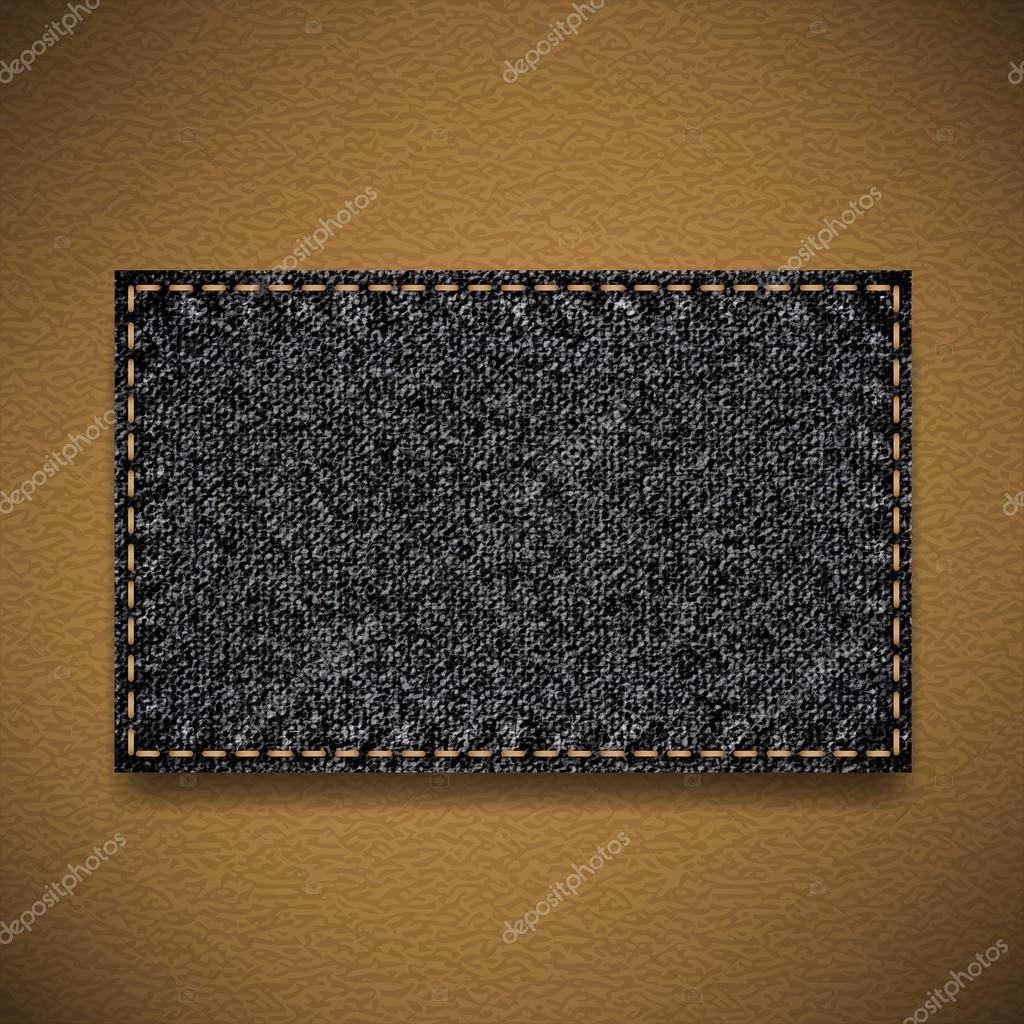 Black jeans label — Stock Vector #12665506