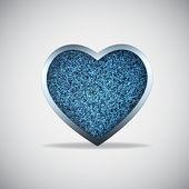 Jeans heart — Stock Vector