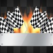 Background with checkered flags — Stock Vector