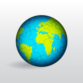 Globe of Earth — Stock Vector
