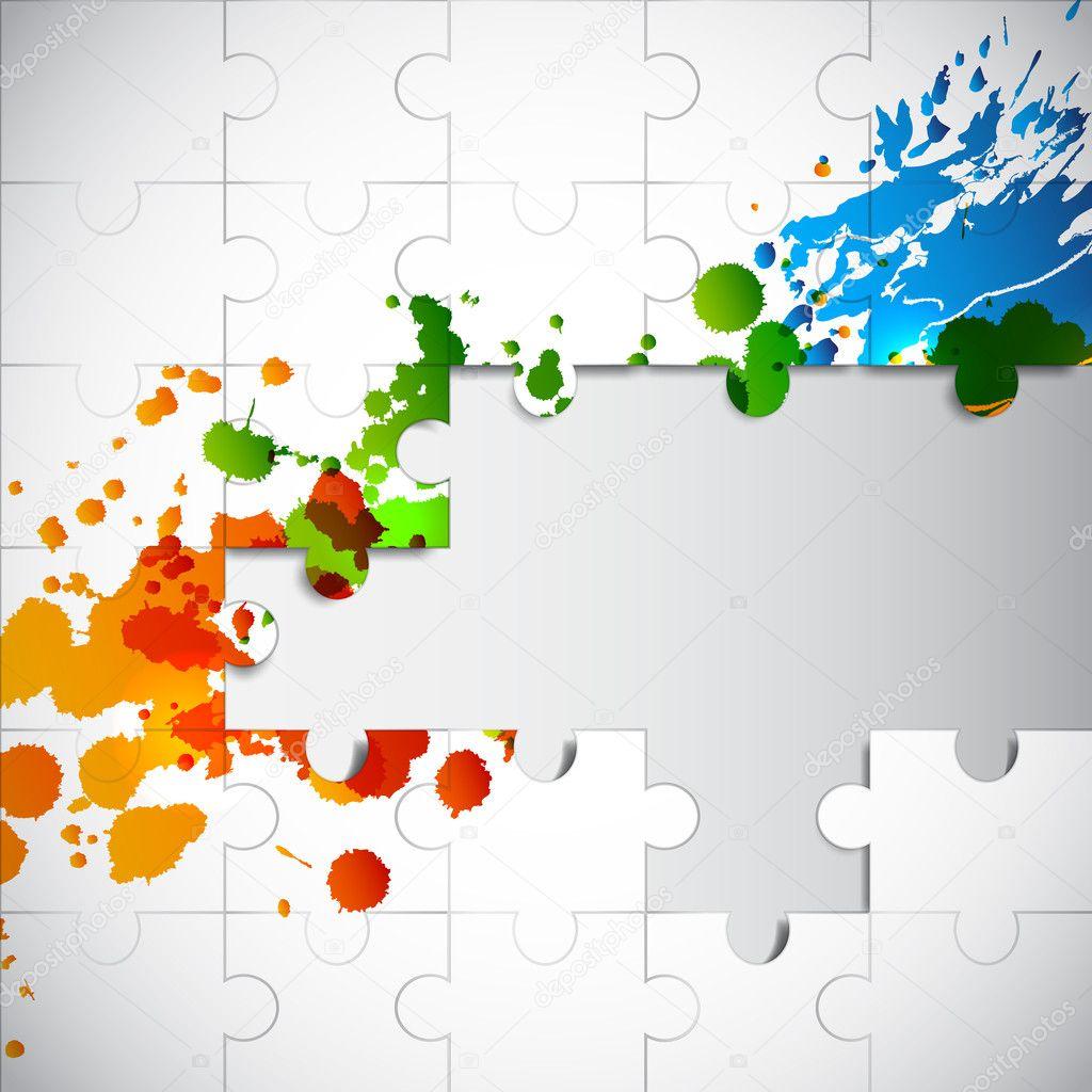 Puzzle Background Stock Vector 169 Ecrow 21139877