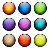 Set of glass sphere — Stock Vector