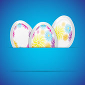 Background with easter eggs — Stock Vector