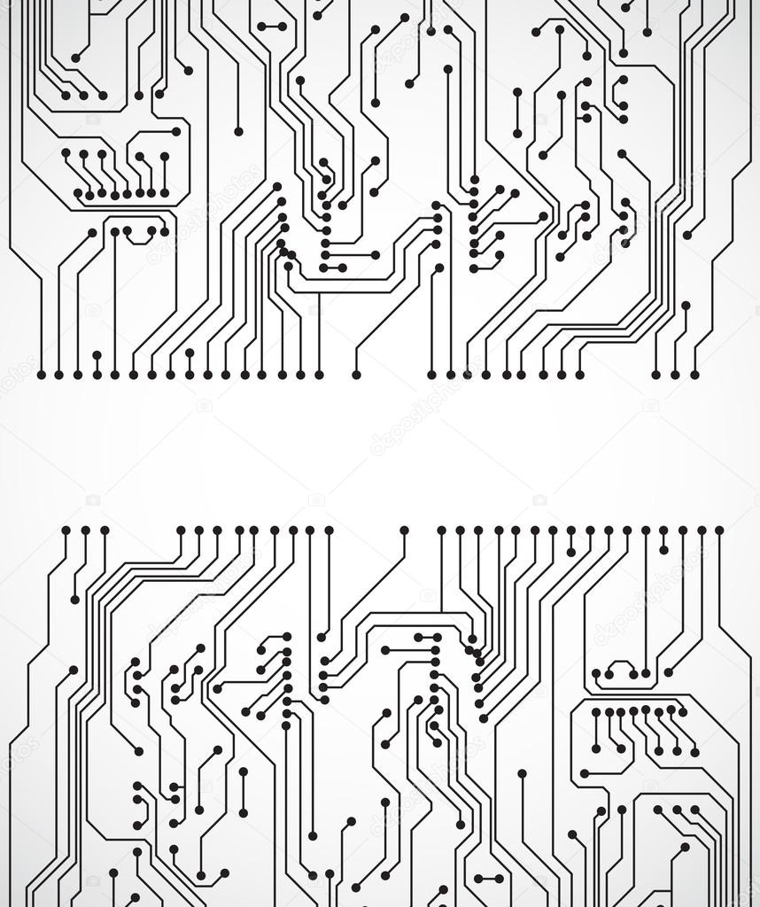 Circuit Board Background Stock Vector Ecrow 22836434