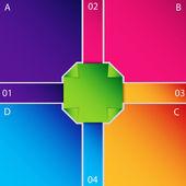 Infographic šablona — Stock vektor