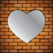 Brick wall with heart — Stock Vector