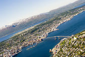 Tromso, Norway panorama — Stockfoto