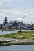 The Industrial Port Of Ijmuiden,The Netherlands — Foto de Stock