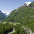 Norway- Hellesylt - Geiranger Fjord - Landscape — Stock Photo
