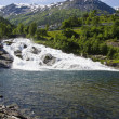 Norway - Waterfall In Hellesylt - View — Stock Photo