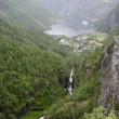 Norway- Geiranger Fjord -Nice view from top of mountains — Stock Photo #21623875