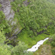 Norway- Geiranger Fjord-On top of mountains — Stock Photo