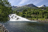 Norway - Waterfall In Hellesylt — Stock Photo