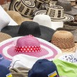 Accessory -Summer hats for ladies and gentlemen in South America - Stock Photo