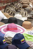 Accessory -Summer hats for ladies and gentlemen in South America — Stock Photo