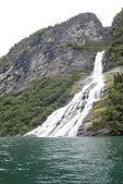 Norway - Bridal Veil Falls - Geirangerfjord — Stock Photo