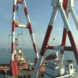 Stock Video: Crane platform and oil rig - Time lapse