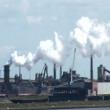 The Industrial Port Of Ijmuiden - The Nederland - Chimneys, smoke and pollution — Stock Video
