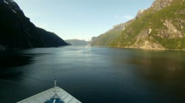Sailing through the fjords of Norway — Stock Video