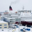 Viking Line - Ship - Port of Turku — Stock Photo