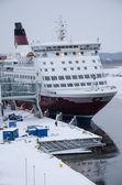 Viking line - gemi - turku bağlantı noktası — Stok fotoğraf