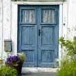 Wooden front door — Stockfoto
