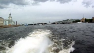 Russia - Saint Petersburg - Boating on Neva River — Stock Video