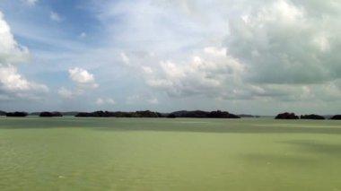 Gatun Lake - Inside Panama Canal — Stock Video