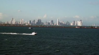 Panama City - Landscape view from the sea - Video High Definition — Stock Video