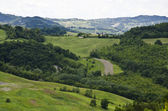 Northern Italy - Green hills — Stock Photo