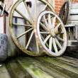 Two wagon wheels — Stock Photo #26843053