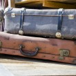 Vintage suitcases — Stock Photo