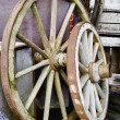 Stockfoto: Big and small wagon wheels - HDR