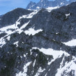 Alaska, aerial view of mountain — Stock Photo #27290773