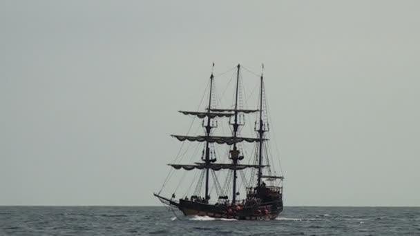 Bateau de pirate voile - partie 2 — Vidéo