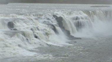 Iceland- Golden Circle - Gullfoss - Golden Falls — Stock Video