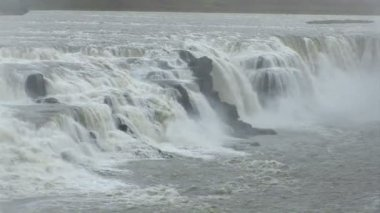 Islanda-golden circle - gullfoss - dorata cade — Video Stock