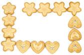Marco hecho de galletas — Foto de Stock