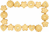 Frame made of biscuits — Stock Photo