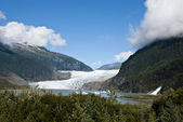 USA Alaska - Mendenhall Glacier and Lake — Foto de Stock