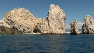 Mexico - Cabo San Lucas - Rocks and beaches - El Arco de Cabo San Lucas — Stock Video