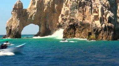 Mexico - Cabo San Lucas - Rocks and beaches - El Arco de Cabo San Lucas — Stock Video