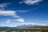 Reis in torres del paine nationaalpark — Stockfoto